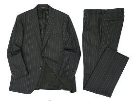 D'URBAN ダーバン ZEAL ストライプ 2B ウール100% ジャケット パンツ スーツ グレー AB4 ▲100▼90506t02
