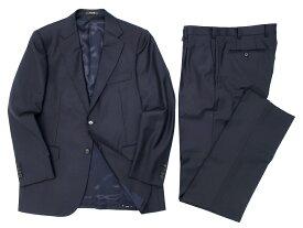MACKINTOSH LONDON マッキントッシュ ロンドン 日本製 2B ウール シングル スーツ セットアップ ジャケット パンツ ネイビー AB6 ▲150▼90517t03