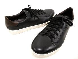 イタリア製 Ermenegildo Zegna エルメネジルド ゼニア A2887X Vittorio sneaker レザー スニーカー シューズ 靴 (ブラック) /ym180802-3
