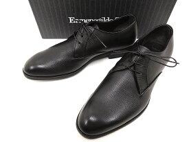 イタリア製 定価9.5万 Ermenegildo Zegna エルメネジルド ゼニア A2734X DERBY プレーントゥ レザー シューズ ビジネス ドレス 靴 6h 3E(ブラック) /ym180803-2