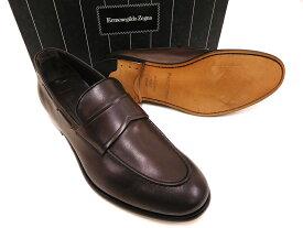 イタリア製 定価10.4万 Ermenegildo Zegna エルメネジルド ゼニア A2614X LOAFER FASCETTA ローファー モカシン スリッポン シューズ 靴 9(ブラウン) /ym180803-4