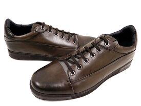 Ermenegildo Zegna エルメネジルド ゼニア A2786X DEMI BOOT ヘリンボーン × レザー スニーカー 靴 10(ブラウン) /ym20180731-7