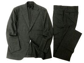 MACKINTOSH LONDON マッキントッシュ ロンドン 定価16.2万 日本製 イタリア製生地使用 ピンチェック柄 ウール スーツ ジャケット パンツ セットアップ 98AB6 チャコール▲250▼90808m01