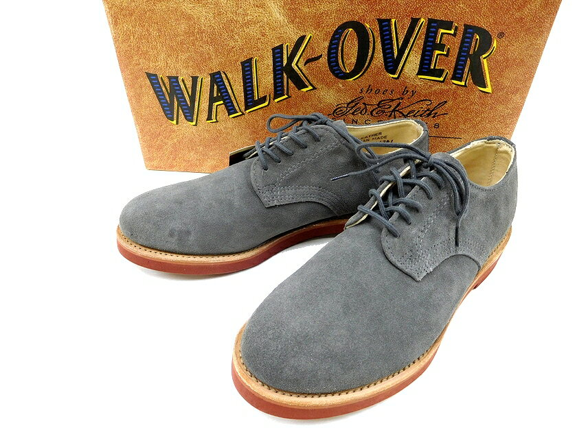 USA製 Walk-Over ウォークオーバー DERBY ダービー スウェード レザー オックスフォードシューズ GRAY 6.5(ka20180423-13) 7.5(ka20180423-14) メンズ