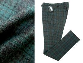 国内正規品 INCOTEX インコテックス SLIM fit スリム フィット 1NT035 ウール チェック柄 スラックス パンツ 48 緑×黒 /ka20180424-9 /メンズ