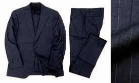 定価14万 MACKINTOSH LONDON マッキントッシュ ロンドン ストライプ 2B サマーウール シングルスーツ セットアップ ネイビー AB5 /ka20180713-1 /メンズ