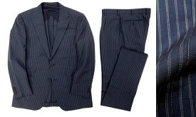 定価17.2万 MACKINTOSH LONDON マッキントッシュ ロンドン ダブルストライプ 2B サマーウール シングルスーツ セットアップ ネイビー AB6(ka20180713-4) AB7(ka20180713-5)/メンズ