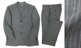 定価16.2万 MACKINTOSH LONDON マッキントッシュ ロンドン ダブルストライプ シルク混 サマーウール スーツ セットアップ グレー A6 /ka20180717-5 /メンズ