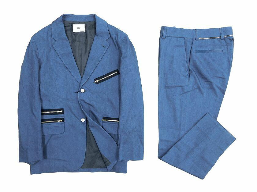 soe ソーイ 2B タックボタン デニム調 コットン スーツ セットアップ 1(ka20170419-5) 2(ka20170419-6) /ka20170419-6 /メンズ