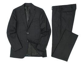 D'URBAN ダーバン ZEAL シングルスーツ シャドーチェック柄 2B ウール100% ジャケット パンツ ダークグレー Y6-01 Y7-02▲100▼90502a08