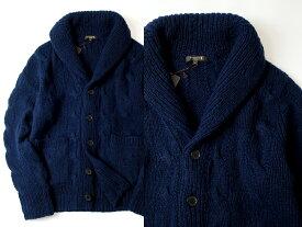 MACKINTOSH LONDON マッキントッシュ ニットジャケット ブルゾン カシミア100% 青 ▲180▼90325a01