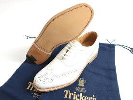 Trcker's MACKINTOSH LONDON EMMA トリッカーズ マッキントッシュ 英国製 定8.5万 ウィングチップ カントリー レザー シューズ 白 4-01 5-02▲160▼90516k01