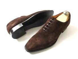 日本製 定価7.8万 大塚製靴 Otsuka SHOTEN 大塚商店 本革 グッドイヤーウェルト製法 スエードレザー ホールカット レザーシューズ 革靴 茶 9/ki190208_2w