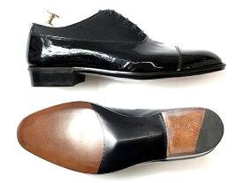 日本製 定価7.8万 大塚製靴 Otsuka SHOTEN 大塚商店 本革 グッドイヤーウェルト製法 エナメル切替 ストレートチップ レザーシューズ 靴 黒 7.5/ki190208_3w 9/ki190208_4w