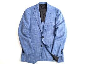 D'URBAN MONSOON ダーバン モンスーン 日本製 ウール100% ホップサック 2B テーラードジャケット 定7.4万 ブルー A5-01 A6-02 ▲120▼90902k01
