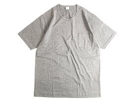 GICIPI ジチピ イタリア製 シルケット加工 コットン100% 薄手 ポケット付 クルーネック 半袖 Tシャツ グレー 5▲010▼91009k06