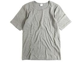 GICIPI ジチピ イタリア製 フライス生地 コットン100% クルーネック 半袖 Tシャツ グレー 4▲010▼91009k07