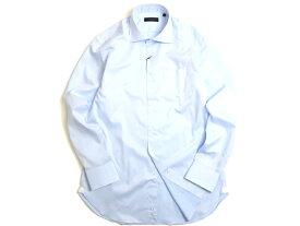 D'URBAN ダーバン コットン100% ワイドカラー 長袖 シャツ ライトブルー L-01 LL-02▲020▼00629k13