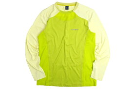 mont-bell モンベル COOL-ZONE Polygine HEALTHA+ メッシュ切替 ストレッチ 長袖 Tシャツ カットソー インナー T16B-272 登山 トレッキング ライムグリーン M-01 L-02▲019▼00730k18