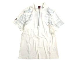 mont-bell モンベル 吸水速乾 ice fresh cube ストレッチ ハーフジップ 半袖 Tシャツ カットソー 登山 トレッキング ホワイト S-01 M-02 L-03▲019▼00526k17