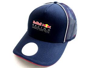PUMA RedBull RACING プーマ レッドブル RBR ロゴワッペン メッシュ切替 パイピング トラッカー ベースボールキャップ 帽子 ネイビー▲010▼01117k04