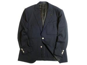 DAKS LONDON ダックス 日本製 モヘヤ混 羊毛 ロゴ刻印メタルボタン 2B テーラードジャケット ブレザー 定9.7万 ダークネイビー BB7▲180▼01210k12