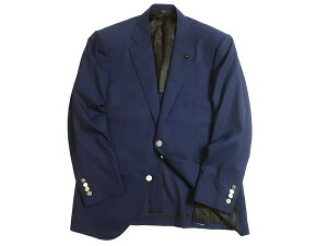 DAKS LONDON ダックス 日本製 ウール100% ロゴ刻印メタルボタン 2B テーラードジャケット ブレザー 定13.2万 ネイビー AB5▲240▼01210k13
