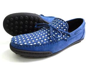 LOBB'S by CALO ロブス madras マドラス イタリア製 本革 イントレ ヌバックレザー デッキシューズ ドライビングシューズ 革靴 20911 ネイビー 39▲032▼10312k08