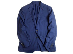 HACKETT LONDON ハケット ウール100% MAYFAIR LUX SHIRT JKT サマーウール 2B シャツ アンコンジャケット ブレザー HM441812 定8.7万 ネイビー 42▲056▼10615k12