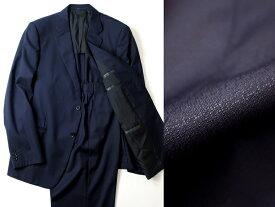 イタリア製 定価24.8万 ARMANI COLLEZIONI アルマーニコレッツォーニ ウール100% 2B シングルスーツ ジャケット パンツ 紺 56 / ki181128_5w