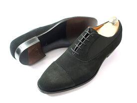 日本製 定価7.8万 大塚製靴 Otsuka SHOTEN 大塚商店 本革 グッドイヤーウェルト製法 スエード切替 ストレートチップ レザーシューズ 靴 黒 8.5/ki190207_8w 9/ki190207_9w
