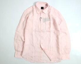 D'URBAN ダーバン 麻100% シャツ 長袖 定2万 ピンク L-01 LL-02▲020▼00402a04