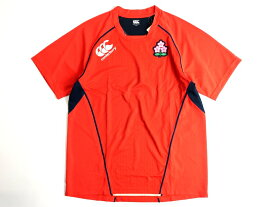 CANTERBURY カンタベリー ラグビー 日本代表モデル 日本製 プラクティス プルオーバー Tシャツ ラグラン 半袖 M-01/L-02/XL-03/3L-04/4L-05 オレンジ▲030▼90618a15