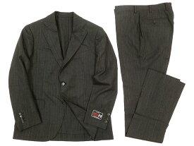 MACKINTOSH LONDON マッキントッシュ 定価17.2万 日本製 英国紳士 William Halstead ピンストライプ シングル 2B スーツ セットアップ グレー 36L-01 42L-02 ▲250▼90809x03