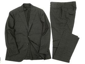 MACKINTOSH LONDON マッキントッシュ 定価16.2万 日本製 イタリア製生地使用 ウィンドウペンチェック シングル 2B スーツ セットアップ グレー AB4-01 AB5-02 AB6-03 ▲250▼90809x04