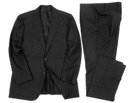 MACKINTOSH LONDON マッキントッシュ 定価14万 日本製 Super140's 無地 シングル 2B スーツ セットアップ ブラック BB7▲250▼90809x06