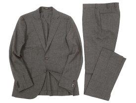 MACKINTOSH LONDON マッキントッシュ 定価14万 日本製 英国製生地使用 杢調 シングル 2B スーツ セットアップ グレー R-L ▲250▼90809x08