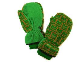 PEARLY GATES パーリーゲイツ フェアアイル ニット ロゴ刺繍 ミトン 両手用 グローブ 手袋 グリーン /ok190220-22 /メンズ