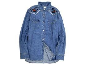 CAL O LINE キャルオーライン ACOMA EMB Weatern Shirts 長袖 デニム ウェスタンシャツ ブルー M /sh20180117-10 /メンズ