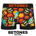 BETONES/ビトーンズ ボクサーパンツ メンズ 下着 アンダーウェア パンツ おしゃれ フリーサイズ 蜂 蜂柄 かわいい 派手 誕生日プレゼント クリスマス 彼氏 父 息子 男性 ギフト 記念日 BEE BEE