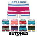 BETONES/ビトーンズ ボクサーパンツ メンズ アンダーウェア 下着 おしゃれ かわいい ボーダー シンプル ツルツル フリ…