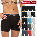 【3枚セット】Calvin Klein/カルバンクライン ロング ボクサーパンツ メンズ アンダーウェア 下着 前開き 綿100 長め …