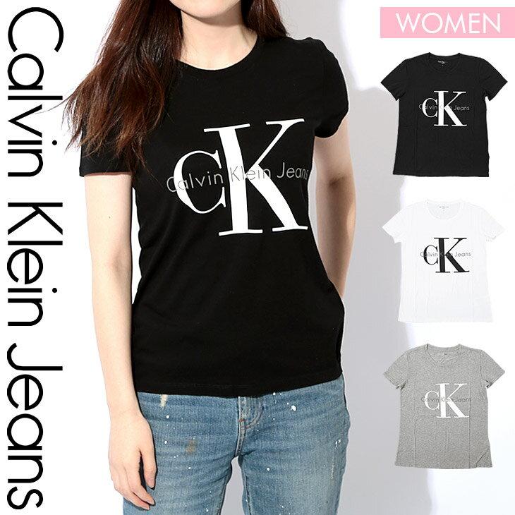 カルバンクライン Tシャツ レディース 半袖 カットソー クルーネック REISSUE BIG LOGO シンプル ロゴ トップス オシャレ CK カルバン Calvin Klein Jeans 誕生日プレゼント 彼女 女性 ギフト