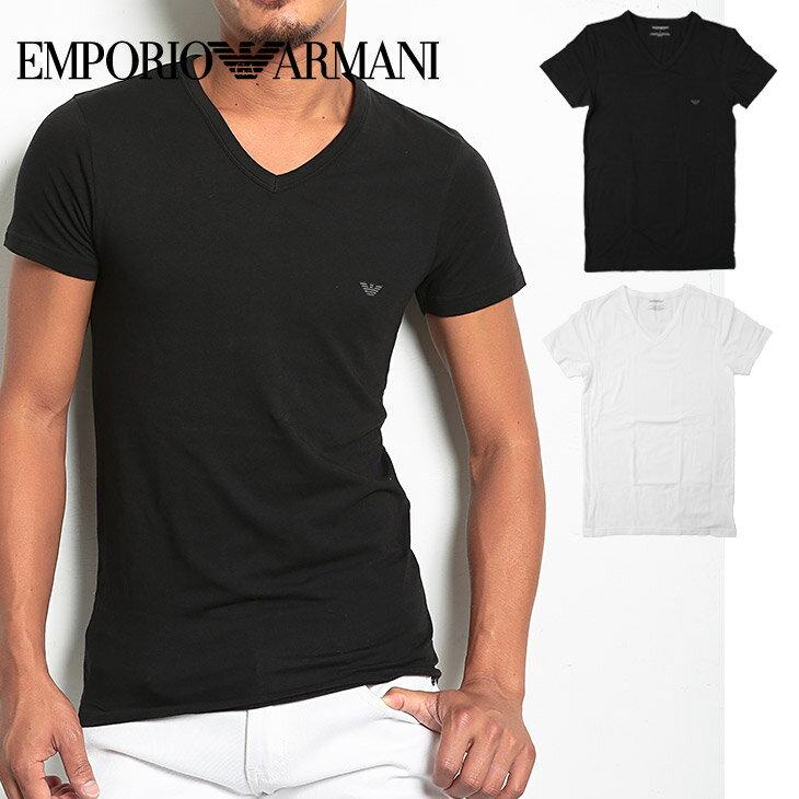 エンポリオ アルマーニ Tシャツ メンズ 半袖 Vネック STRETCH COTTON ブランド ファッション トップス 父の日 誕生日プレゼント 彼氏 父 ギフト
