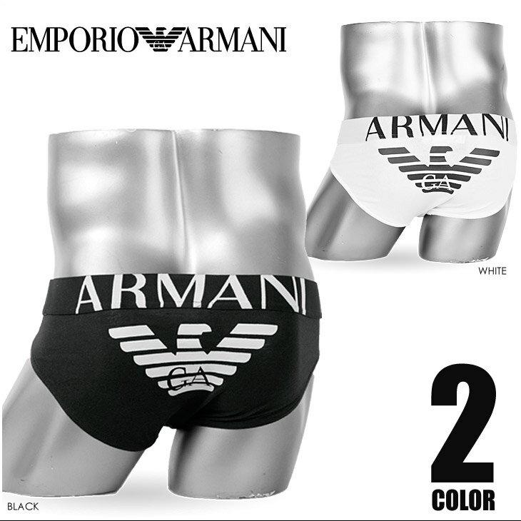 エンポリオアルマーニ/EMPORIO ARMANI ブリーフ メンズ EAGLE STRETCH COTTON 男性下着 パンツ 誕生日プレゼント 彼氏 父 ギフト