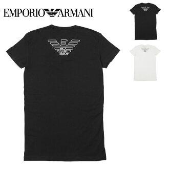 emporioarumani T恤人短袖V字领顶端针织素色标识鹰一点EA STRETCH COTTON EAGLE EMPORIO ARMANI生日礼物男朋友父亲男性礼物