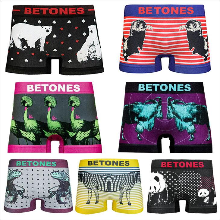 BETONES/ビトーンズ ボクサーパンツ メンズ 下着 ANIMAL4 アニマル 白くま パンダ ペア フリーサイズ オシャレ かわいい 誕生日プレゼント 彼氏 父 男性 旦那 ギフト