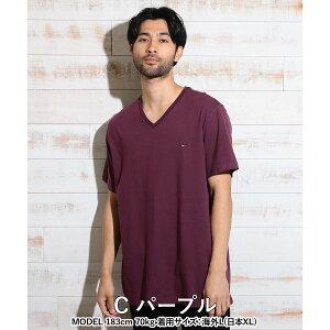 BasicCottonCoreFlagメンズVネック半袖Tシャツ商品画像