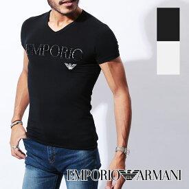 エンポリオ アルマーニ Tシャツ メンズ Vネック 半袖 SLEEVE イーグル ロゴ ブランド EMPORIO ARMANI プチギフト 誕生日プレゼント ホワイトデー 彼氏 父 男性 旦那 ギフト 記念日 おしゃれ