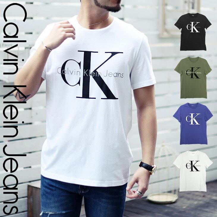 カルバンクライン Tシャツ メンズ クルーネック 半袖 REISSUE BIG LOGO シンプル ロゴ トップス CK カルバン Calvin Klein Jeans 誕生日プレゼント 彼氏 父 男性 旦那 ギフト